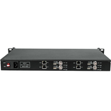 1U Rack H.265 H.264 Video Decoder with 4 Channels SDI Output